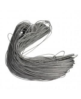 Hilo algodón gris 1mm, precio por 5 metros