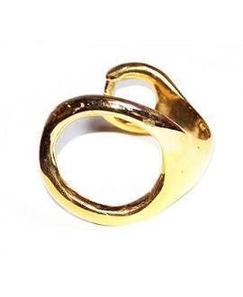 Media pulsera lupa 58mm, zamak baño de oro