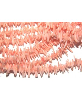 Chips coral rosa 5-11mmx1-3mm agujero 0,5mm , precio por tira
