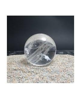 Cuarzo cristalino o cristal de Roca 8mm, tira 40 cm