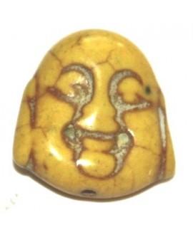 Howlita buda amarillo 20x17mm, paso 1mm
