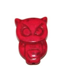 Howlita búho rosa 30x19mm