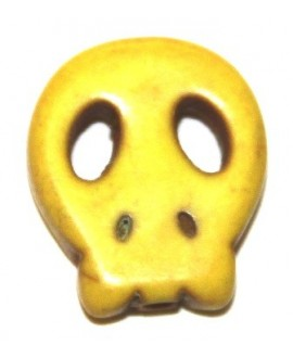 Howlita calaverita amarilla 15x12mm, paso 1mm