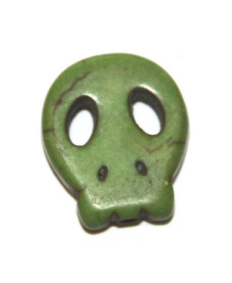 Howlita calaverita verde 15x12mm, paso 1mm