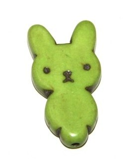Howlita conejita verde 28mm paso 1mm