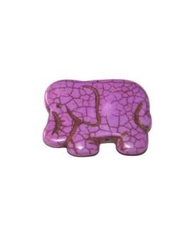 Howlita elefante morado 40x30mm, paso 1mm