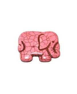 Howlita elefante rosa 40x30mm, paso 1mm
