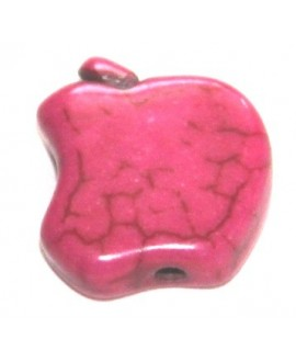 Howlita manzanita rosa 12mm, paso 1mm