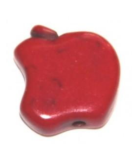 Howlita manzanita roja 12mm, paso 1mm