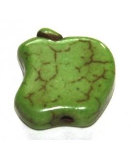 Howlita manzanita verde 12mm, paso 1mm