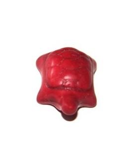 Howlita tortuga roja 20x15mm, paso 3mm