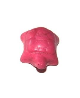 Howlita tortuga rosa 20x15mm, paso 3mm