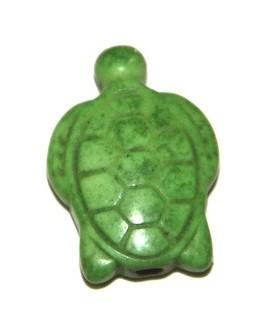 Howlita tortuga verde 20x18mm paso 1mm