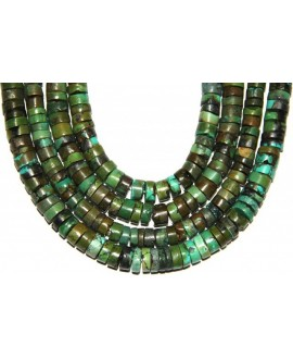 Turquesa rondel grass green 10x11-3,8mm agujero 1mm
