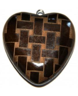 Colgante corazón resina 60x58mm