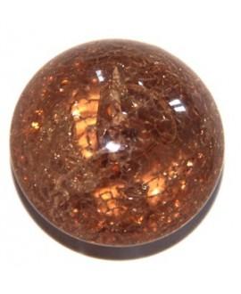 Cuenta resina ovni craquelado ámbar 30mm, agujero 1mm