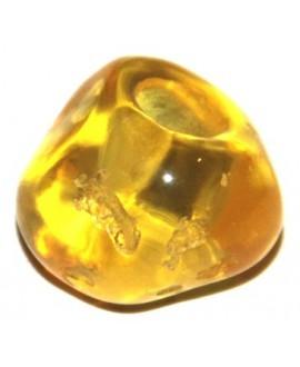 Cuenta resina irregular amarillo 20x15mm, paso hasta 4mm