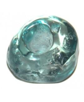 Cuenta resina irregular azul 20x15mm, paso hasta 4mm