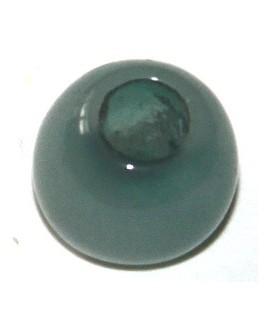 Cuenta resina turquesa, 7x6mm, paso 4mm