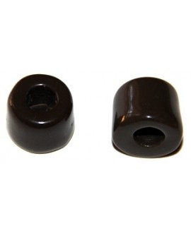 Cuenta resina tronco marrón, 13x16mm, paso 7mm