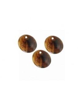 Colgante moneda 15mm marrón betas