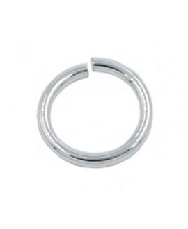 Anilla redonda baño de plata 12mm de diámetro, hilo de 1mm, precio por 12 unidades