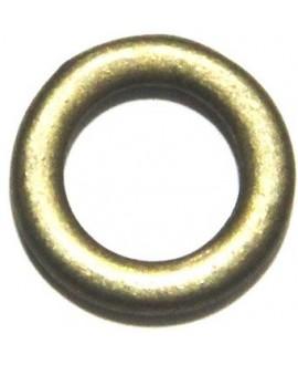 Aro 19x19mm agujero 11,3mm, zamak baño de bronce