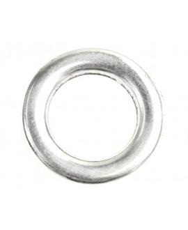 Aro 19x19mm agujero 11,3mm, zamak baño de plata