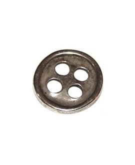 Botón 23mm, zamak baño de plata