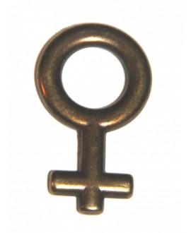 Colgante chica 25mm, zamak baño de bronce