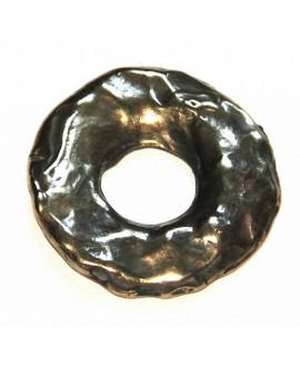 Donut 36x36mm, zamak baño de bronce