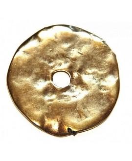 Donut gigante 42mm, paso 6,2mm, zamak baño de bronce