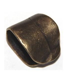 Colgante sujeta fular 23x19mm paso 22x15mm, zamak baño de bronce