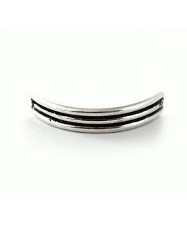 Media pulsera 44x8mm paso 1mm, zamak baño de plata