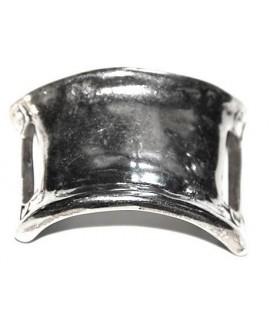 Pasador pulsera ancho paso 24mm, baño plata