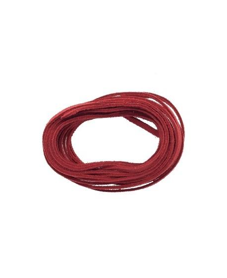 Antelina 4mm color rojo, precio por 3 metros