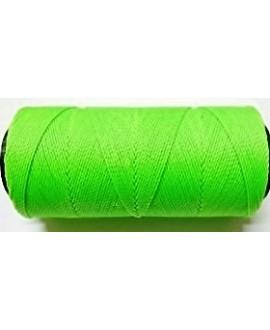 Hilo encerado Brasileño 1mm verde fluorescente, venta por 3 metros
