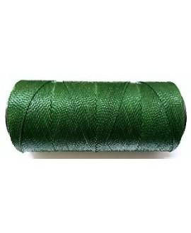 Hilo encerado Brasileño 1mm verde oscuro, venta por 3 metros