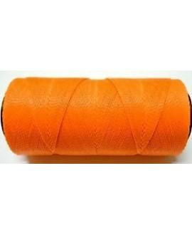 Hilo encerado Brasileño 1mm naranja fluorescente, venta por 3 metros