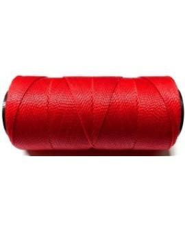 Hilo encerado Brasileño 1mm rojo, venta por 3 metros