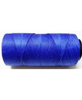 Hilo encerado Brasileño 1mm azul, venta por 3 metros