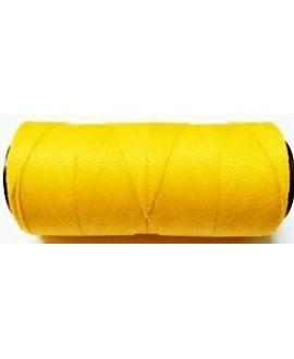 Hilo encerado Brasileño 1mm amarillo, venta por 3 metros