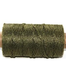 Cordón torzal poliester verde 1,5mm, venta por 5 metros