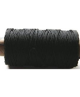 Cordón torzal poliester negro 1,5mm, venta por 5 metros