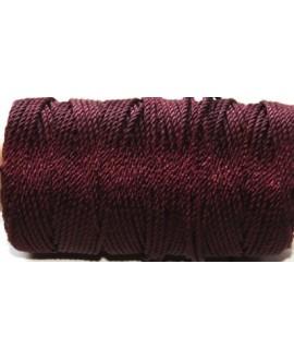 Cordón torzal poliester burdeo 1,5mm, venta por 5 metros