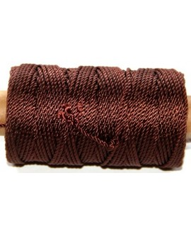Cordón torzal poliester marrón 1,5mm, venta por 5 metros