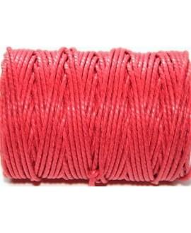 Cordón torzal algodón rojo 1,5mm, venta por 5 metros