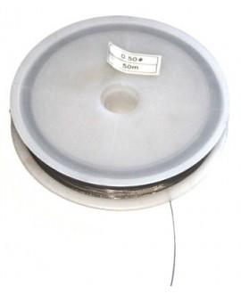 Hilo acero recubierto 0,50mm, venta por 50 metros