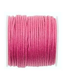 Hilo algodón frambuesa 1,5mm, precio por 5 metros
