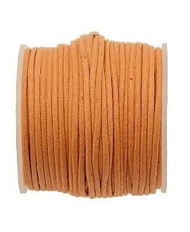 Hilo algodón naranja 1,5mm, precio por 5 metros